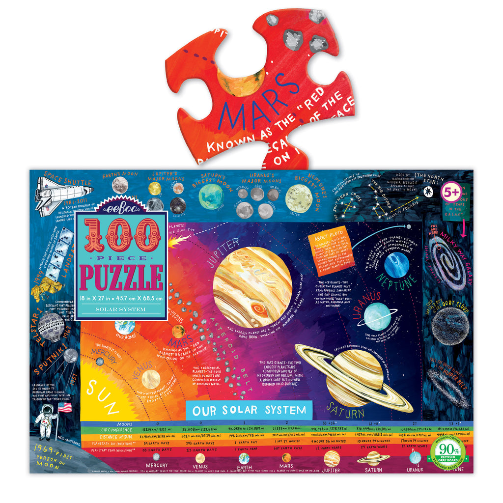 Solar System 100pc Puzzle, by eeBoo