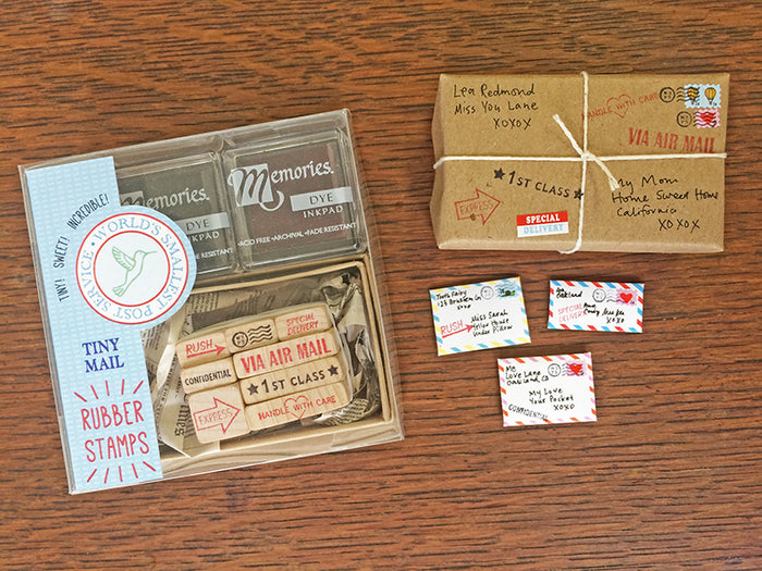 The Tiny Mail Stationery Kit - Special Edition: Rubber Stamps, by Lea Redmond