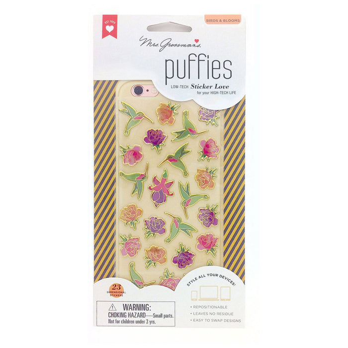 BIRDS & BLOOMS, Puffies by Mrs Grossmans