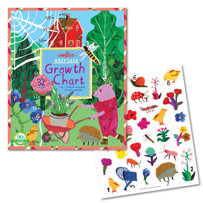 Making the Garden Keepsake Growth Chart, by eeBoo