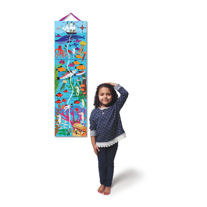 Big Blue Whale Keepsake Growth Chart, by eeBoo