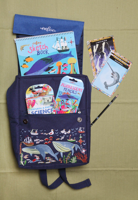 Happy Whales Backpack, by eeBoo