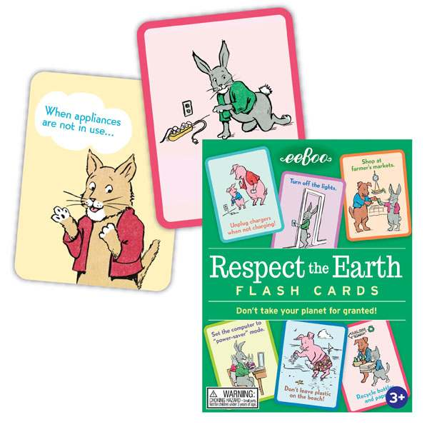 Respect The Earth Flash Cards, by eeBoo