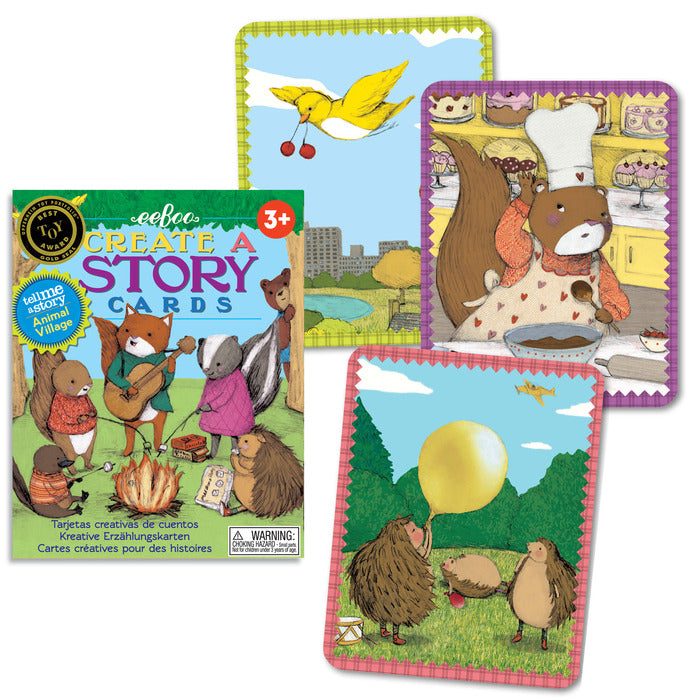 Create-a-Story Cards: Animal Village, by eeBoo