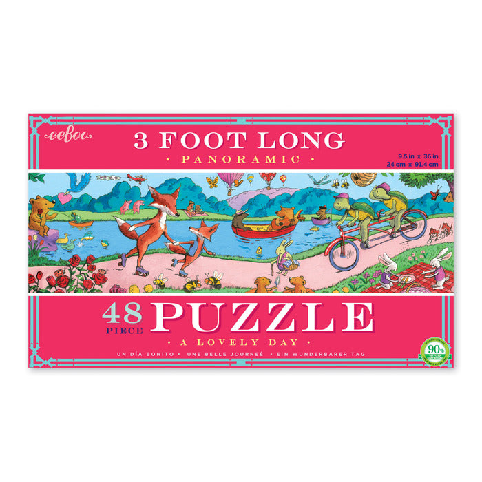 48pc Panoramic Puzzle - A Lovely Day, by eeBoo