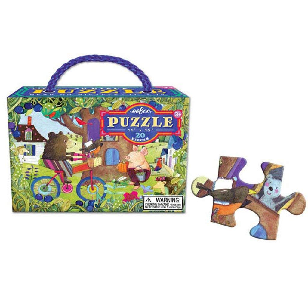 Bear on Bicycle 20pc Puzzle, by eeBoo