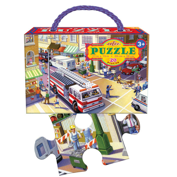 Fire Truck 20pc Puzzle, by eeBoo