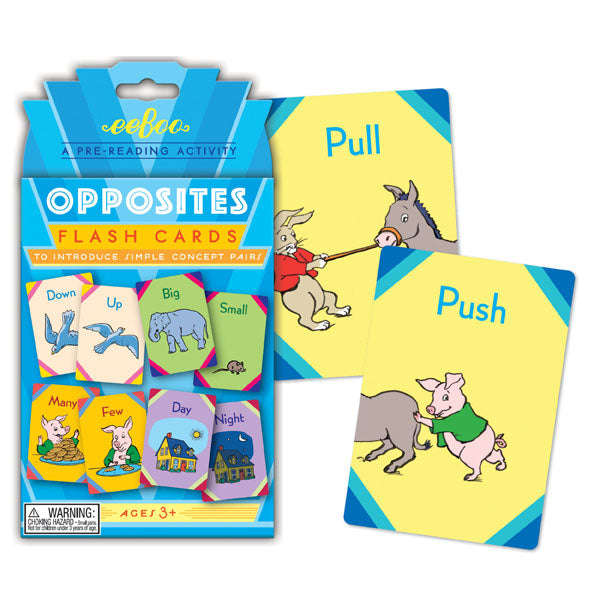 Opposites Flash Cards, by eeBoo