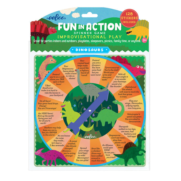 Dinosaur Fun In Action Spinner Game, by eeBoo