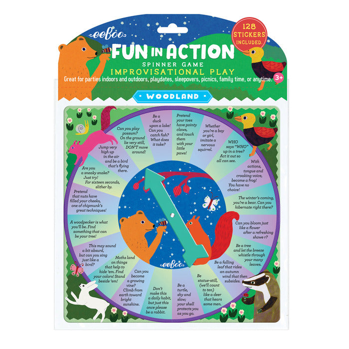 Woodland Fun In Action Spinner Game, by eeBoo