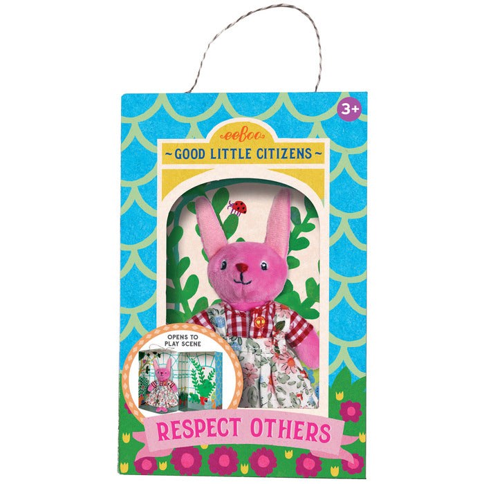 Good Little Citizen, Respect Others, Bunny Plush Toy, by eeBoo