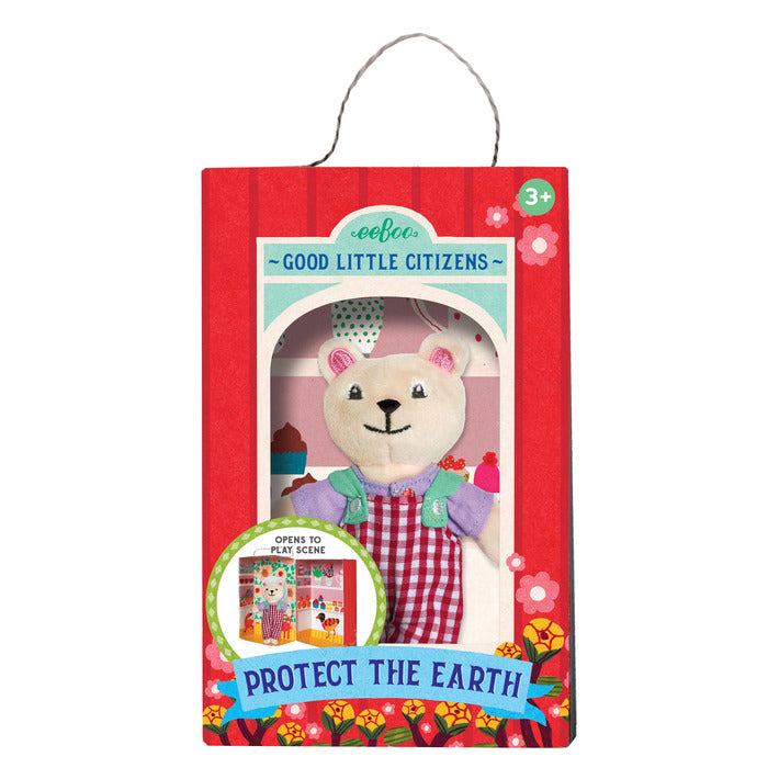 Good Little Citizen, Protect The Earth, Polar Bear Plush Toy, by eeBoo