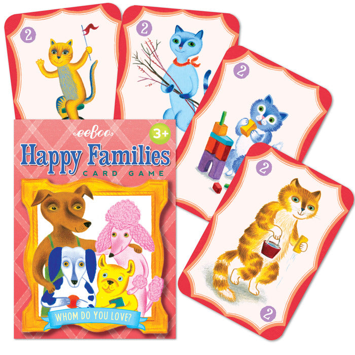 Happy Families Playing Cards, by eeBoo