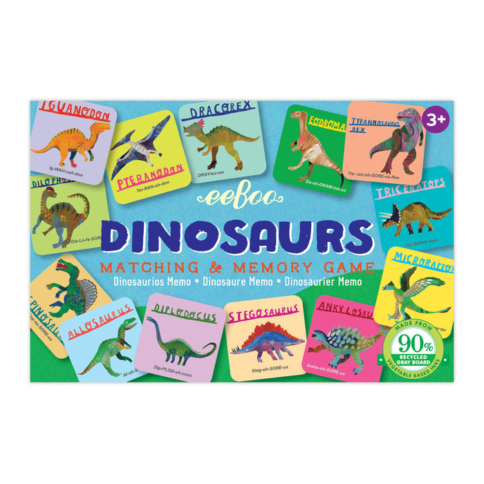 Dinosaurs Little Matching Game, by eeBoo