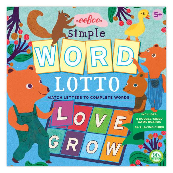 Simple Word Lotto Game, by eeBoo