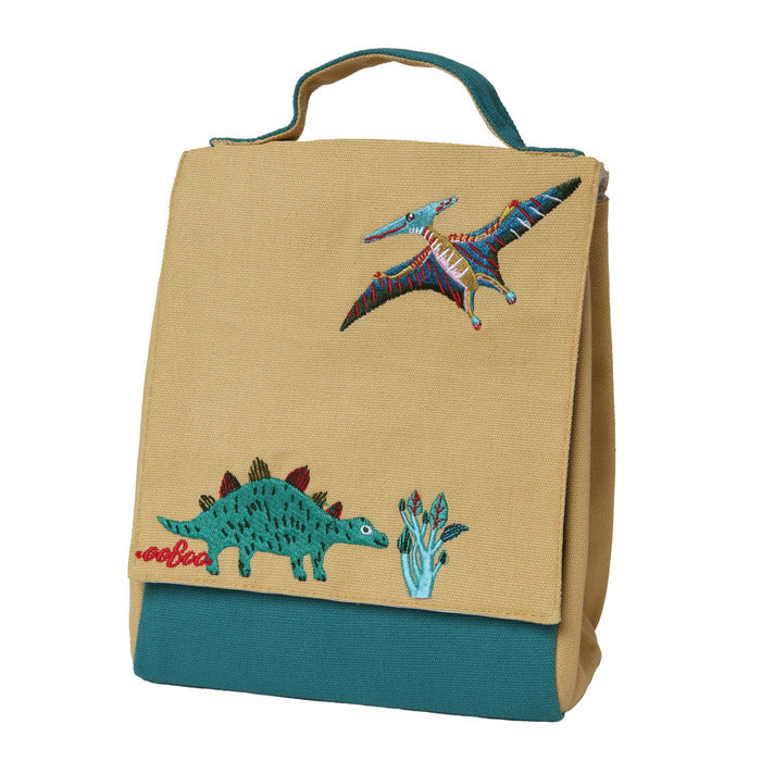 Stegosaurus + Pteranodon Lunch Bag, by eeBoo