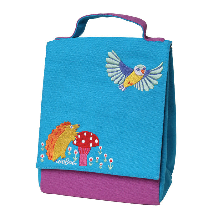 Hedgehog + Bird Lunch Bag, by eeBoo