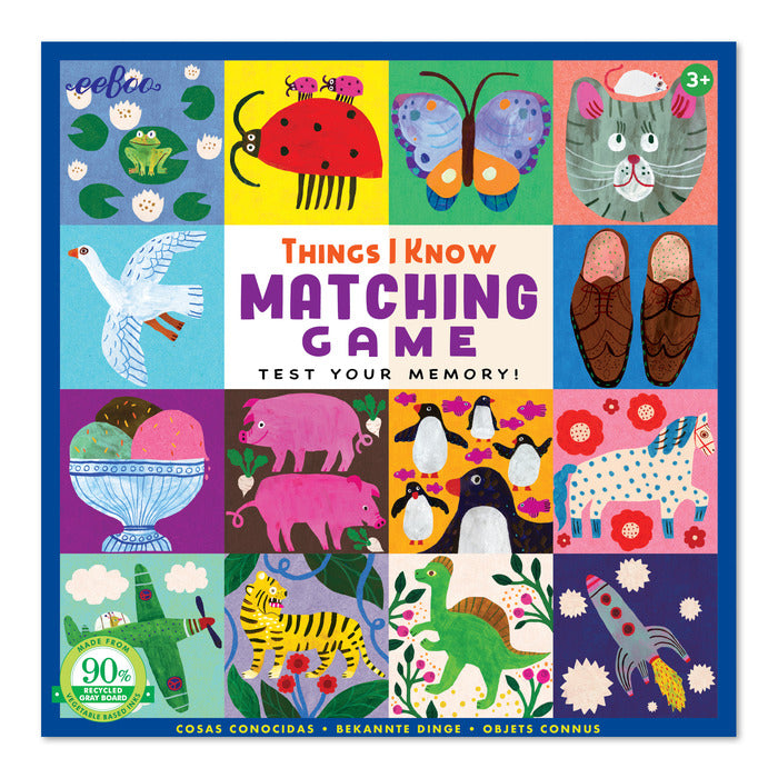 Things I Know Memory & Matching Game, by eeBoo