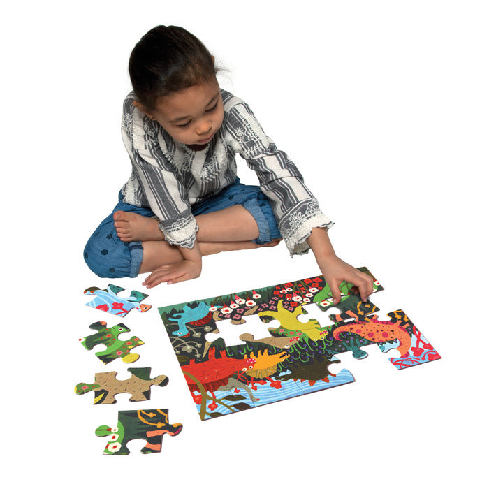 Dinosaur Meadow 20pc Puzzle, by eeBoo