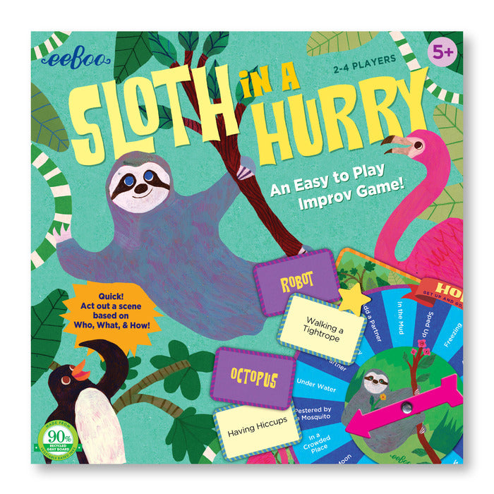 Sloth In A Hurry Action Game, by eeBoo