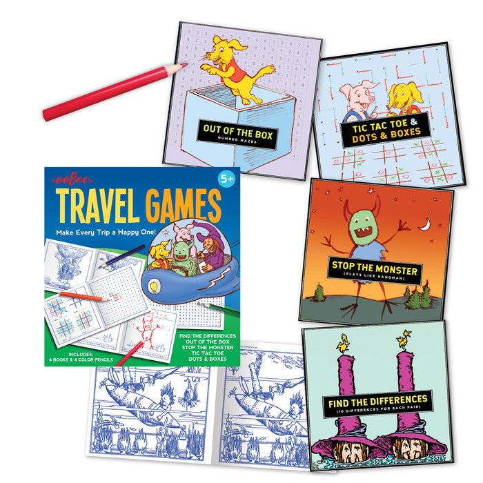 Travel Games Set, by eeBoo