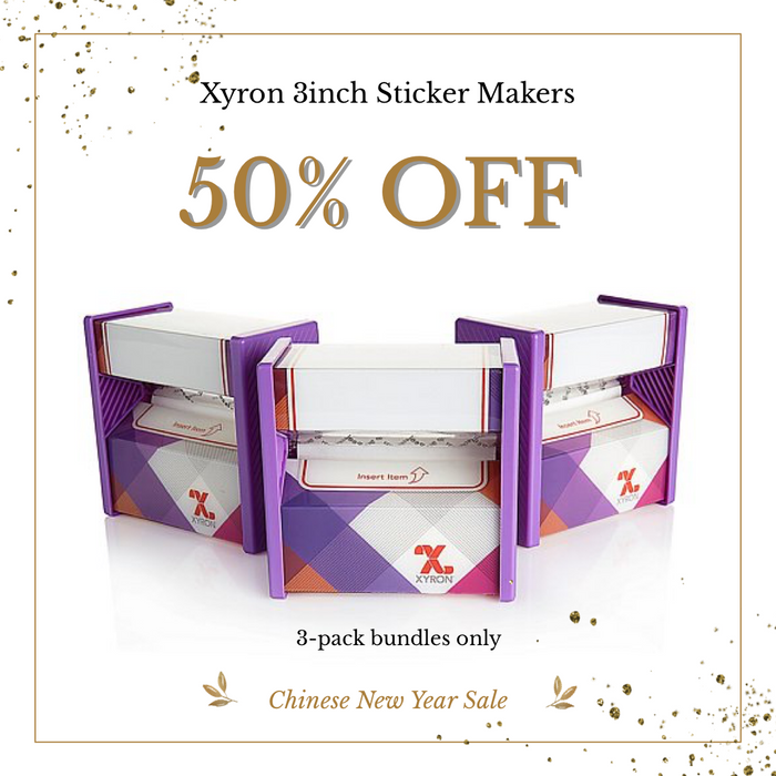 Xyron 3in Sticker Maker - 3-pack bundles