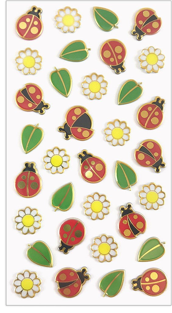 LADYBUGS & DAISIES, Puffies by Mrs Grossmans