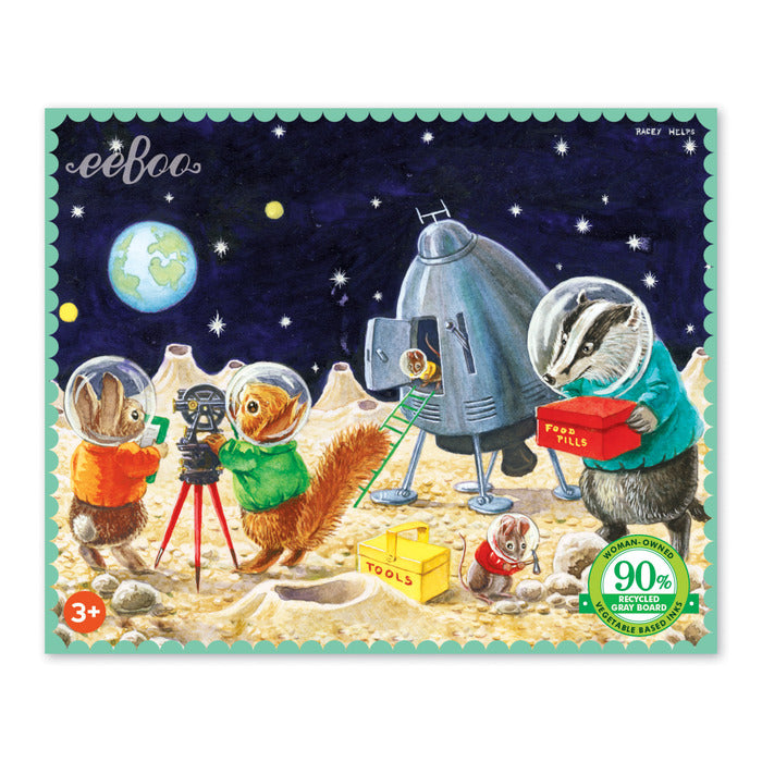 Mini 36pc Puzzle - On The Moon by eeBoo