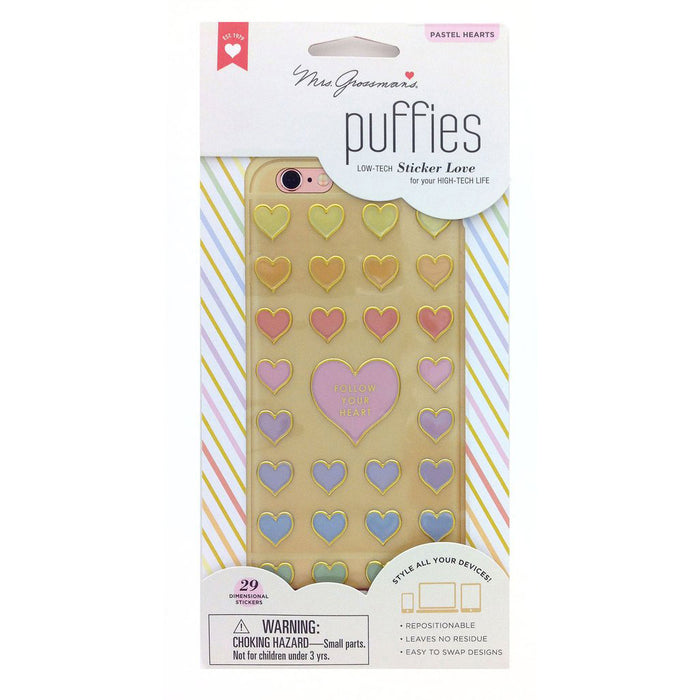 PASTEL HEARTS, Puffies by Mrs Grossmans