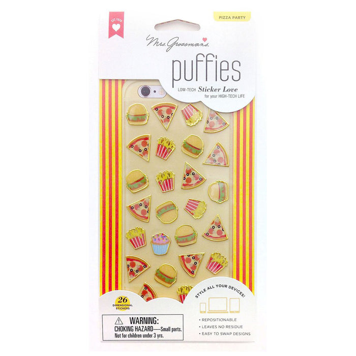 PIZZA PARTY, Puffies by Mrs Grossmans