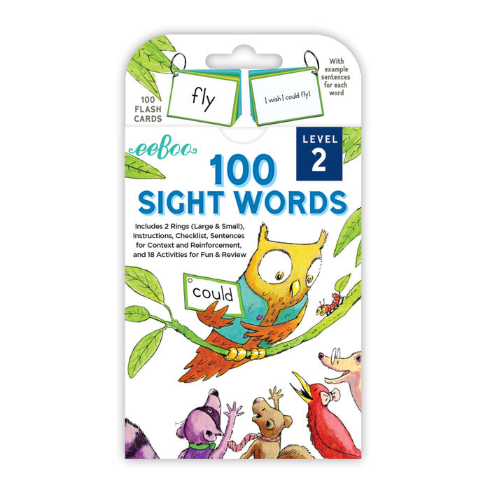Sight Words Level 2 Flash Cards, by eeBoo