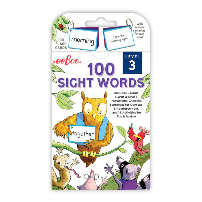 Sight Words Level 3 Flash Cards, by eeBoo