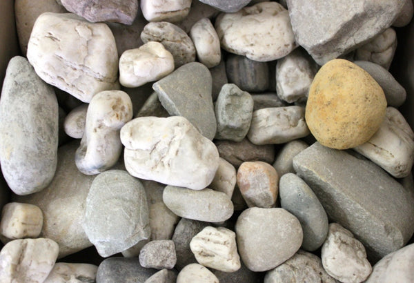 White/Grey Pebbles -from