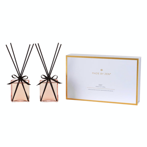 madebyzen Day Set Made by Zen Luxury Mini Reed Diffuser Gift Set  Day