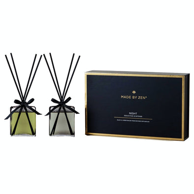 madebyzen Night Set Made by Zen Luxury Mini Reed Diffuser Gift Set  Night
