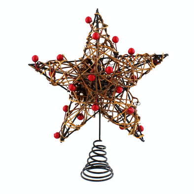 Festive Productions P023417 Christmas Tree Topper With Pine Cones  Berries  24cm