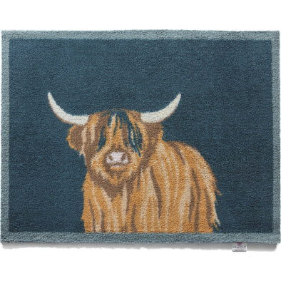 Hug Rug HILND1-MAT Hug Rug Door Mat  Machine Washable  65 x 85cm  Highland Cow