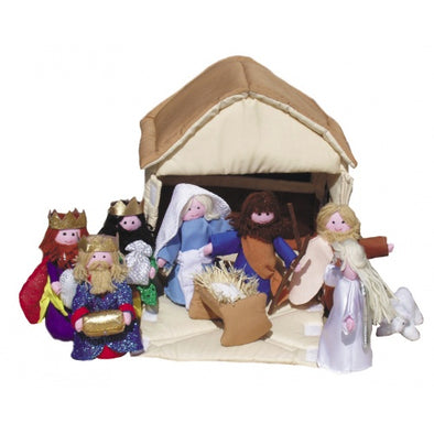 Oskar & Ellen OE448 Soft NATIVITY SET  Lets Play  made by Oskar  Ellen