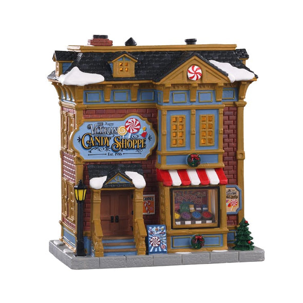 Lemax 05684 Lemax Porcelain Houses  Caddington Village  The Victorian Candy Shoppe Battery LED