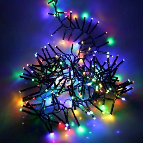 Noma 6816009GM 280 LED Cluster Christmas Lights  BatteryTimer  Multicoloured