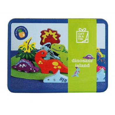 Apples To Pears 106101 Dinosaur Island In A Tin