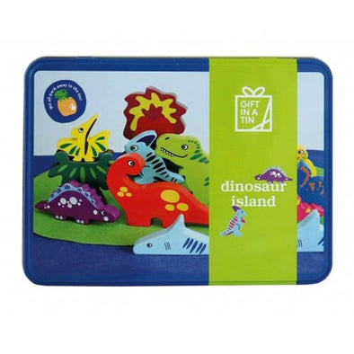 Apples To Pears 106101 Dinosaur Island Gift In A Tin