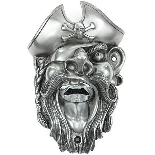 Beer Buddies BB25SIL Beer Buddies Pirate Bottle Opener  Silver