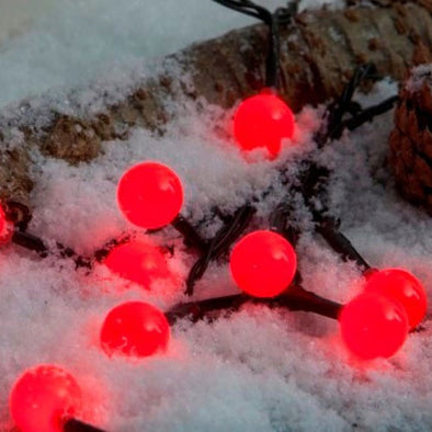 100 LED Multifunction Berry Lights : Black : Red