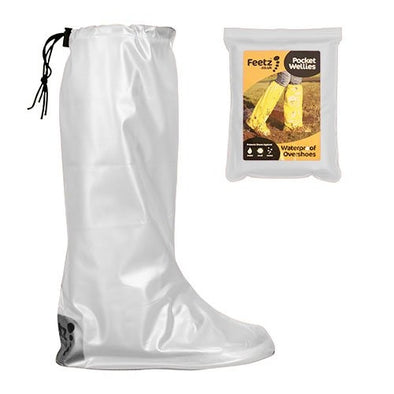 Feetz  Feetz Pocket Wellies  Waterproof Overshoes  White  L