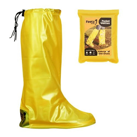 Feetz  Feetz Pocket Wellies  Waterproof Overshoes  Yellow  L