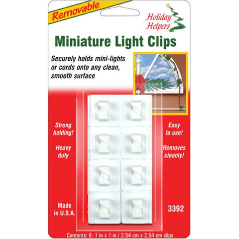 Magic Mounts Holiday Helpers : 8 Pack : Removable Miniature Light Clips : 3392