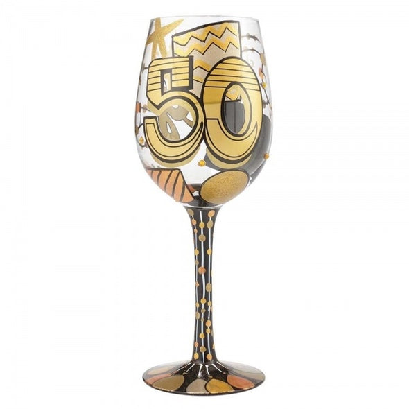 Lolita 6000738 50th Birthday Wine Glass