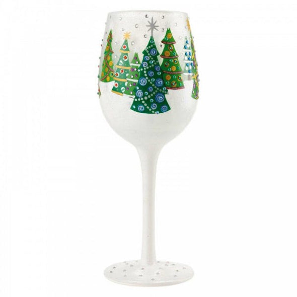 Lolita 6004430 Christmas Trees In The Snow Wine Glass