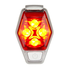 Nathan NA-90886 HyperBrite Strobe Light Clip On LED  Fiery RedSilver